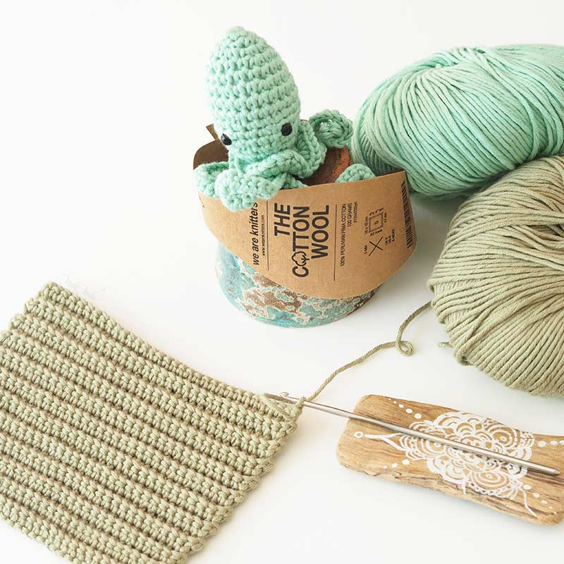 crochet cactus décoration poulpe coton pima thecottonwool weareknitters Classico Modern Living homeware laboutiquedemelimelo