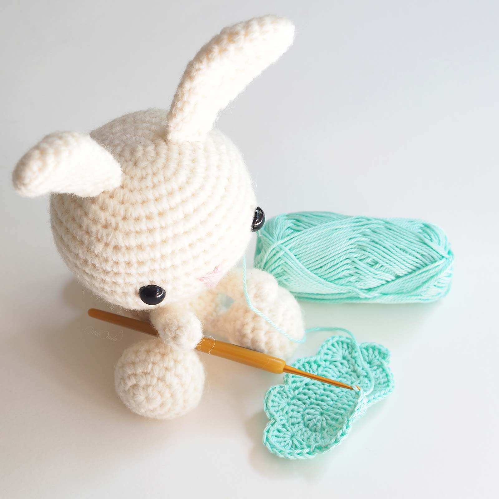 'tit lapin chochet crochet bunny Rico Design alpaca blend chunky laboutiquedemelimelo