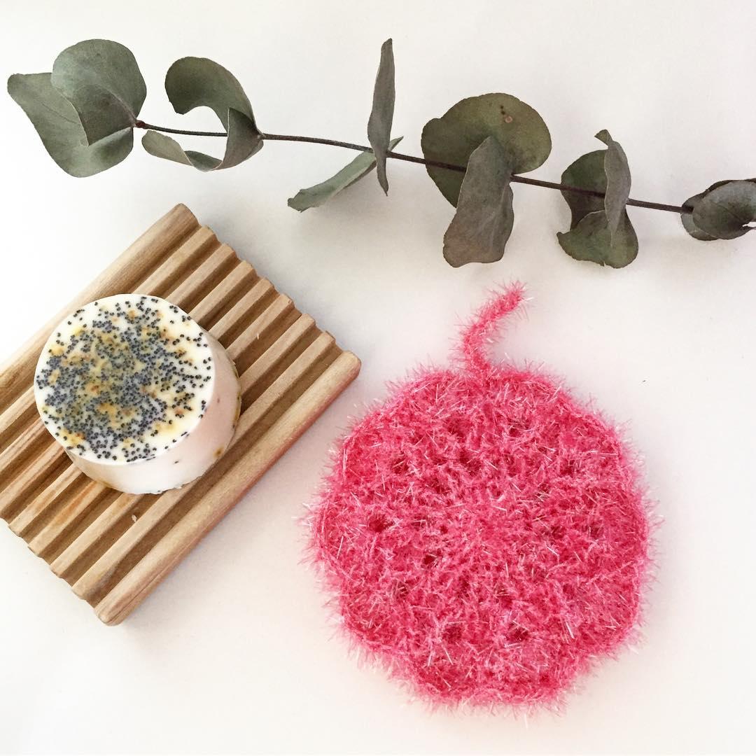 éponge tawashi fushia ricodesign creative bubble DIY #diymelimelo