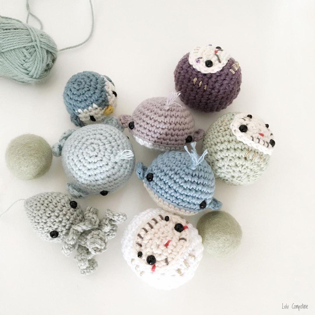 crochet mini poulpe pieuvre darumas pingouin #diymelimelo