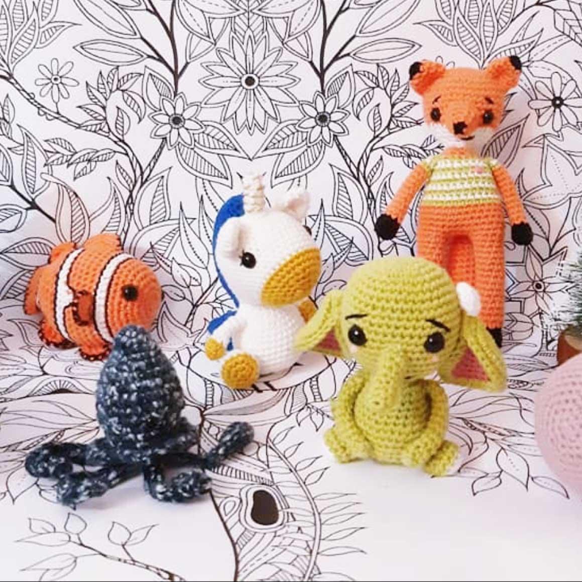 crochet mini poulpe pieuvre #diymelimelo