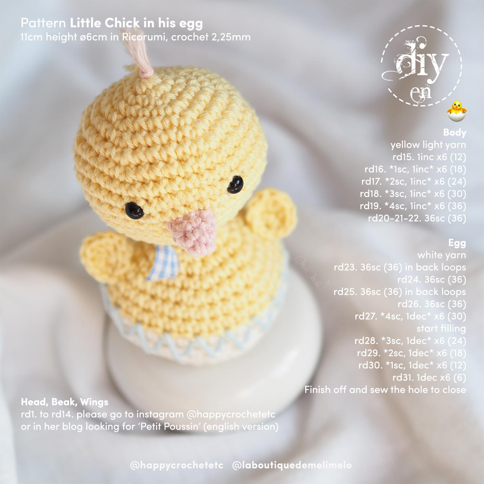 free DIY-crochet-chicken-egg-easter-laboutiquedemelimelo-happycrochetetc