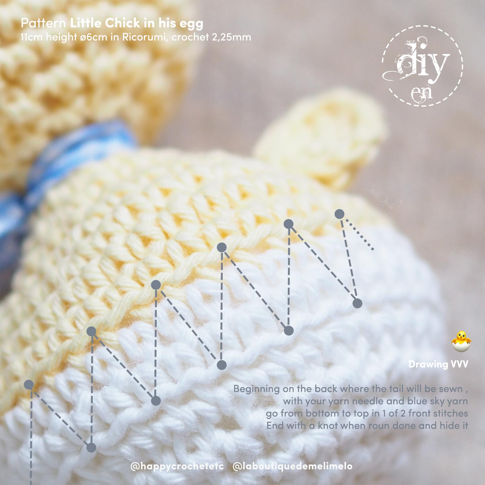 free DIY crochet-chicken-egg-easter-ricorumi-laboutiquedemelimelo-happycrochetetc