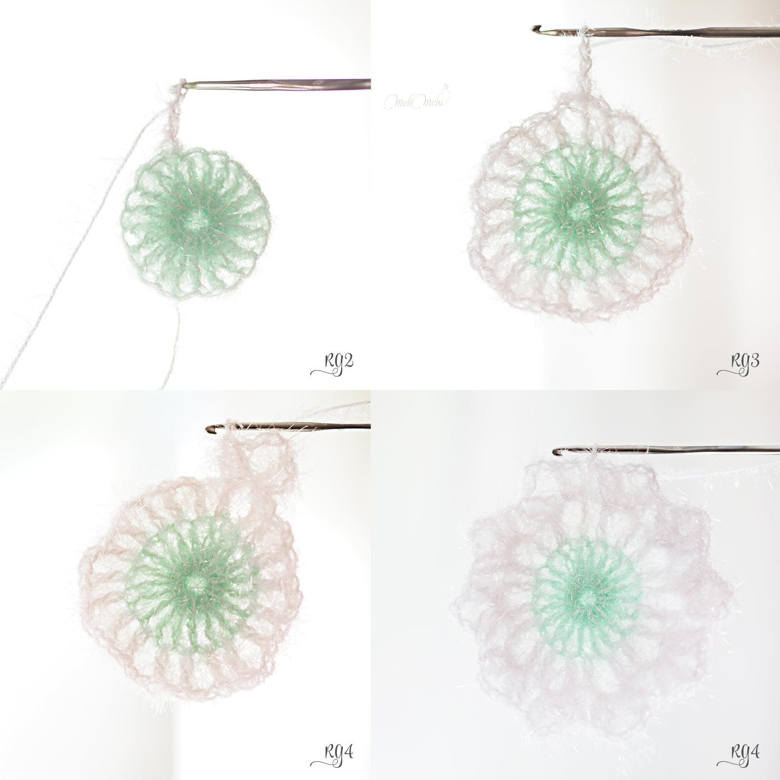 steps DIY crochet tawashi flower pavot amapola creative bubble laboutiquedemelimelo