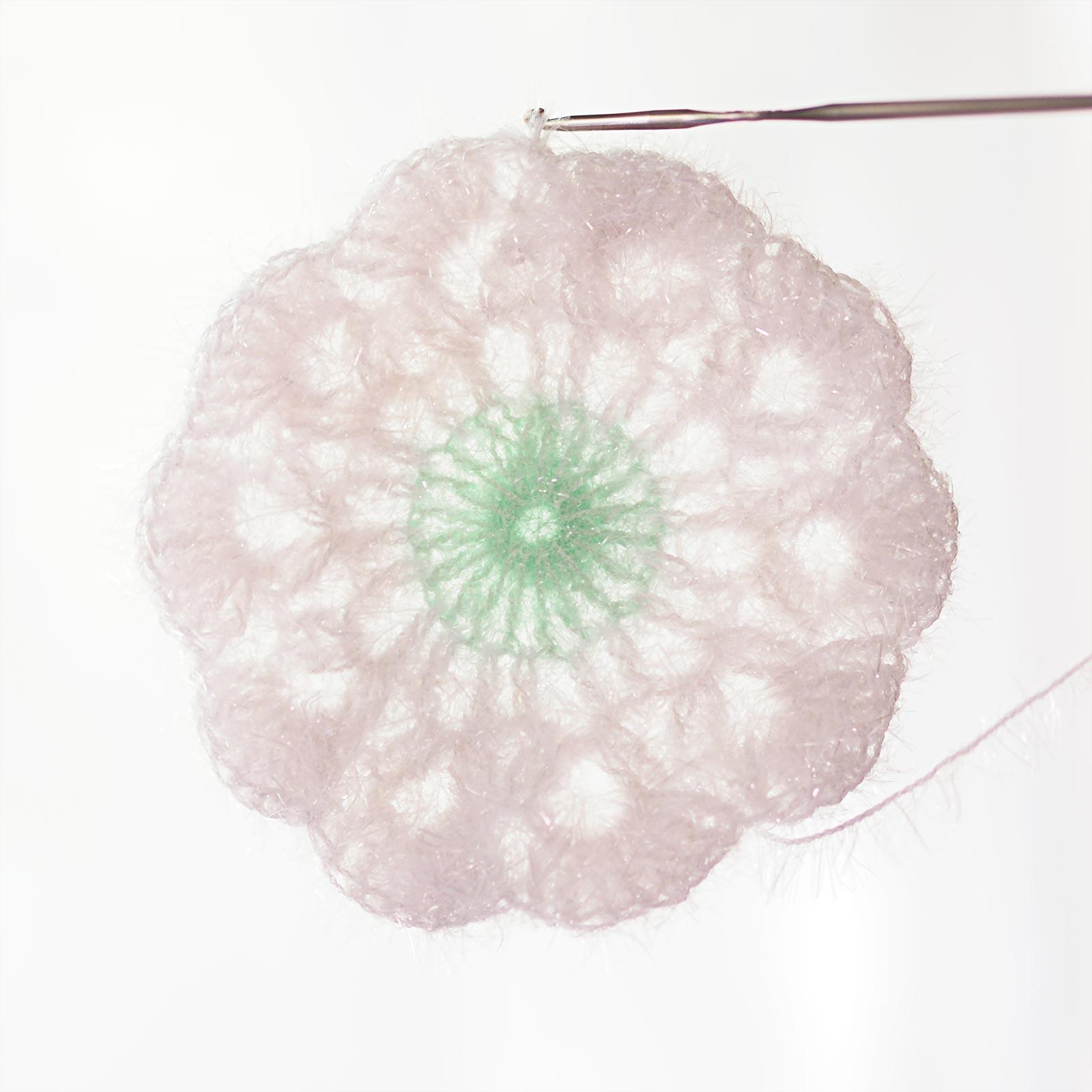 étapes DIY crochet tawashi flower pavot amapola creative bubble laboutiquedemelimelo