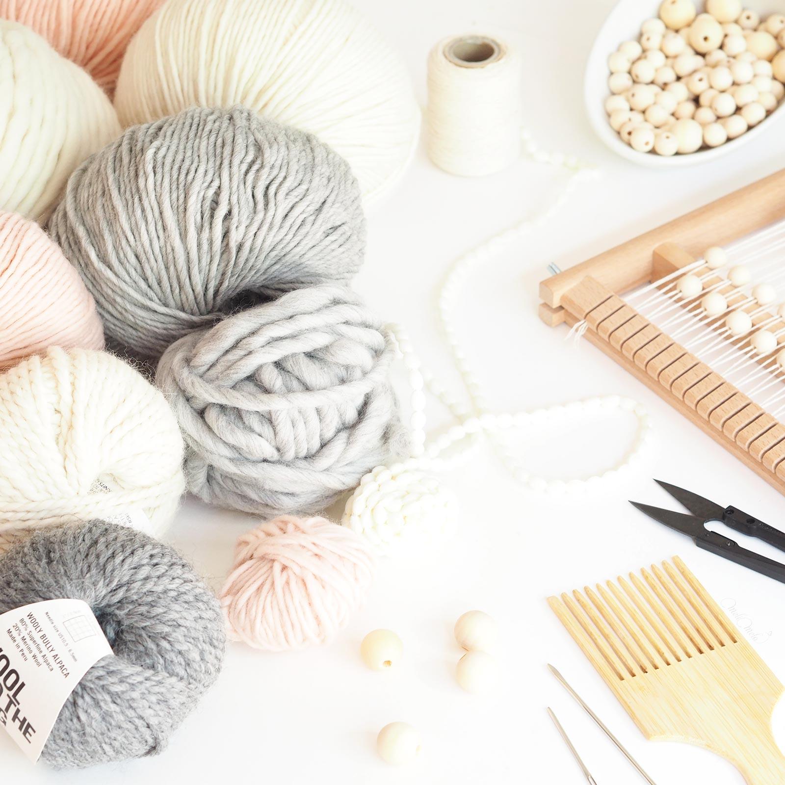 choix des matières tissage perles bois laine plassard woolandthegang handweaving laboutiquedemelimelo