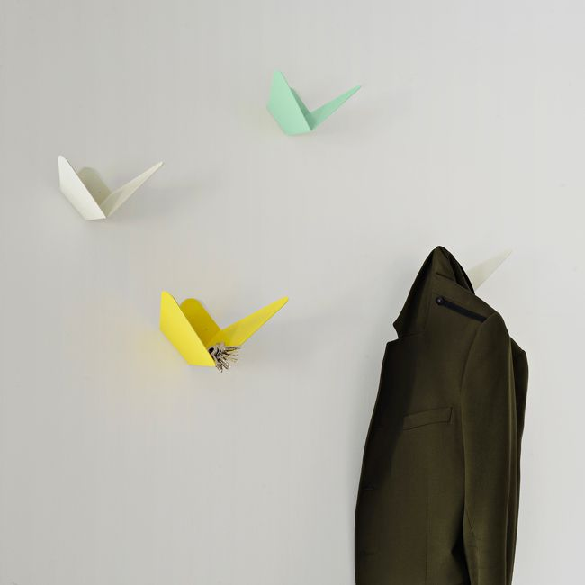 accroches murales papillon origami coat hook makerswithagendas laboutiquedemelimelo