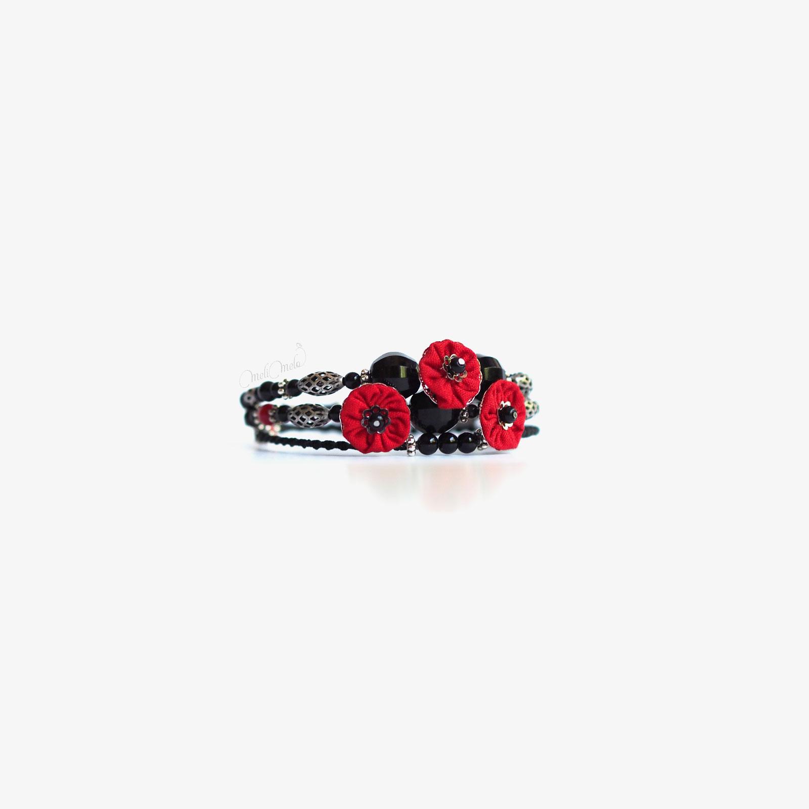 bracelet onyx trois tours japon laboutiquedemelimelo