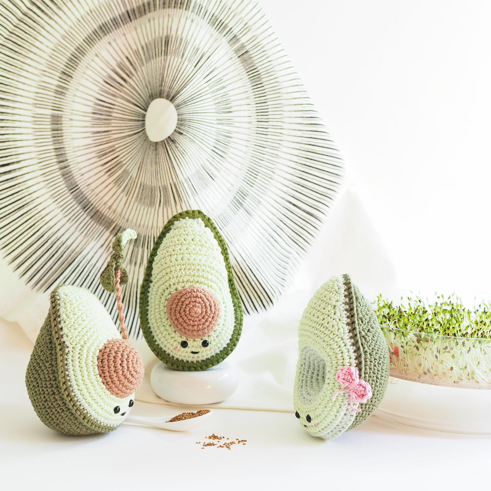 amigurumis avocat crochet avocado germes bio alfafa laboutiquedemelimelo