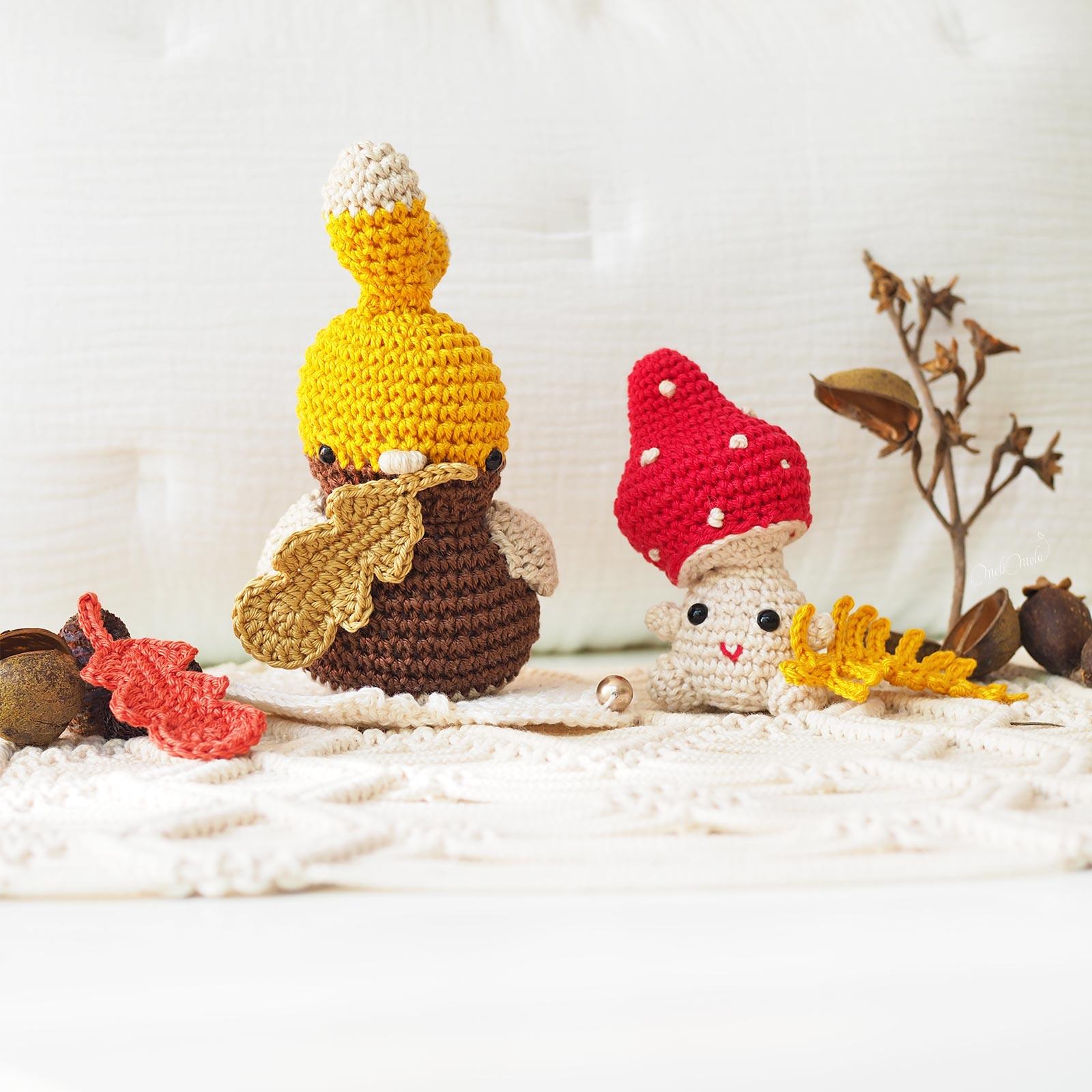 amigurumis-piaf-champignon-amanite-crochet-feuilles-automne-laboutiquedemelimelo