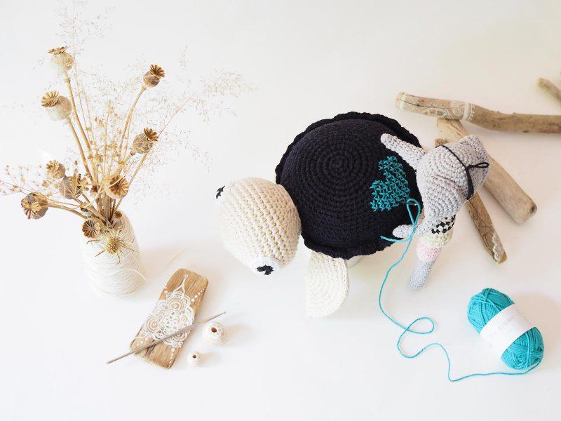 amigurumis tortue éléphant pirate marinière crochet coeur bleu fleurs pavot laboutiquedemelimelo