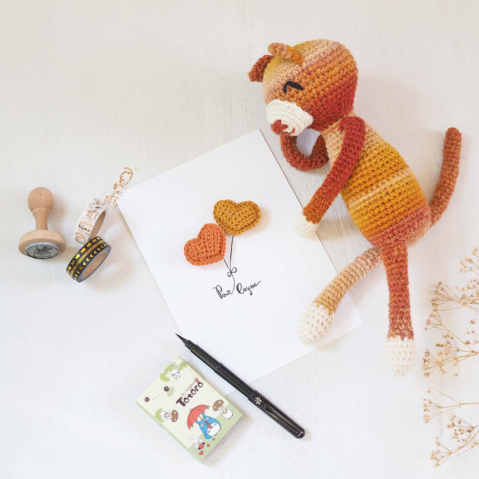 amineko cat moutarde nekoyama chat crochet amigurumi laboutiquedemelimelo