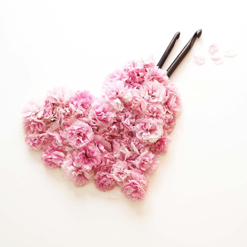 love crochet coeur amour prunus sakura heart laboutiquedemelimelo