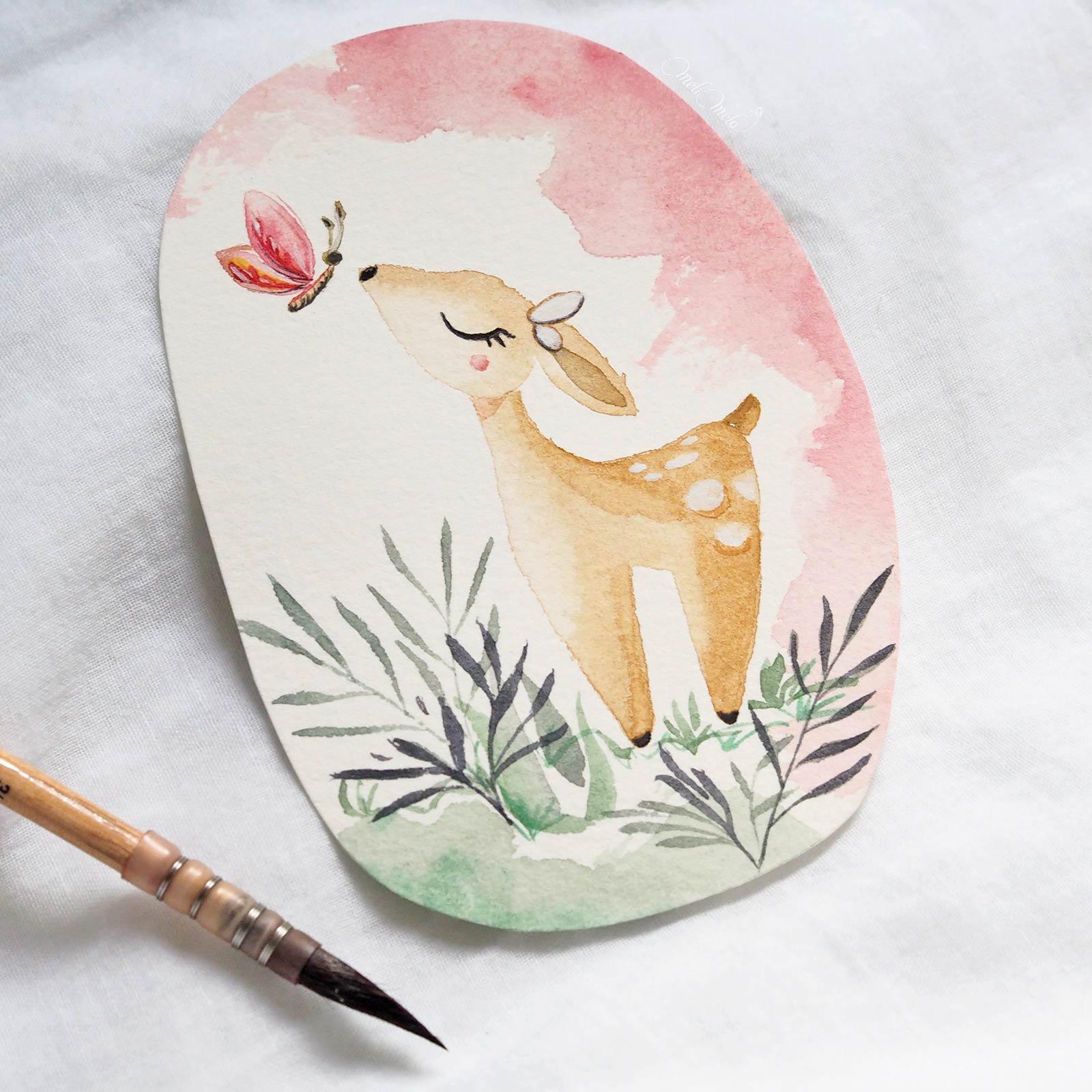 aquarelle-biche-papier-sennelier-watercolor-confections-pastel-dreams-laboutiquedemelimelo