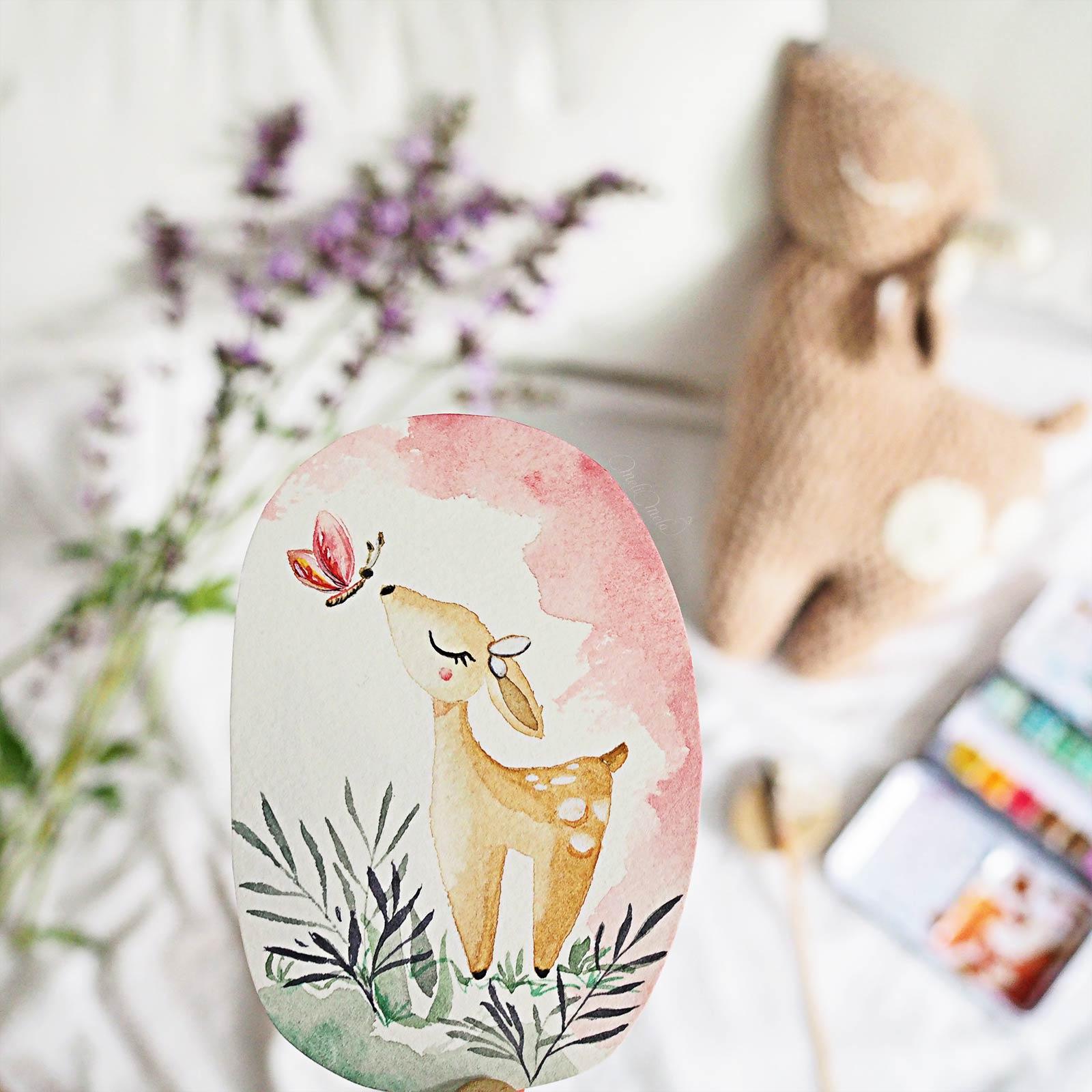 aquarelle biche sennelier papier watercolor confections pastel dreams laboutiquedemelimelo