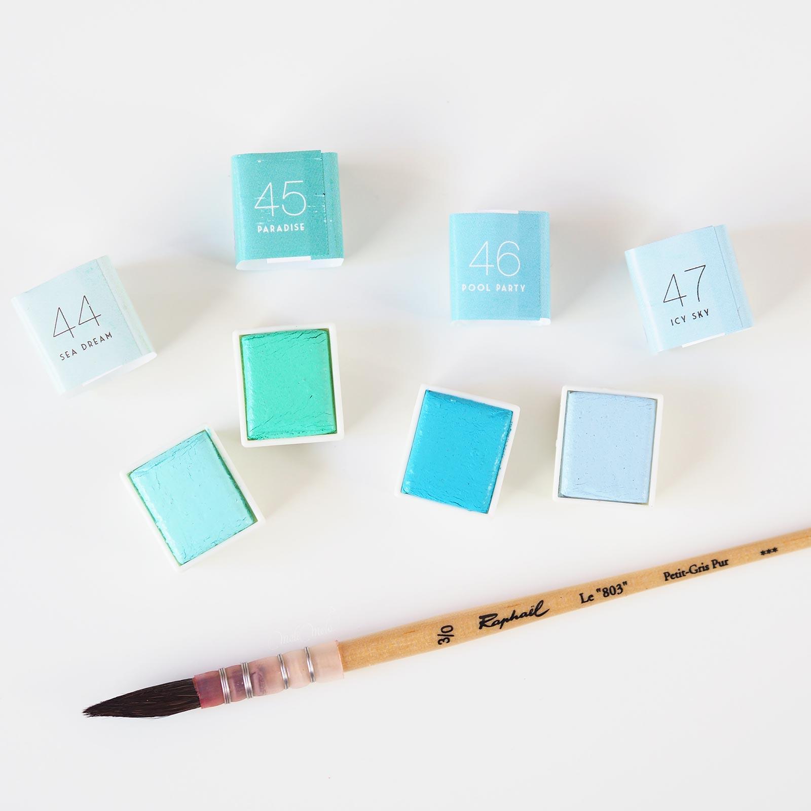 aquarelle watercolor pastel dreams 44-45-46-47 prima Boutique MeliMelo