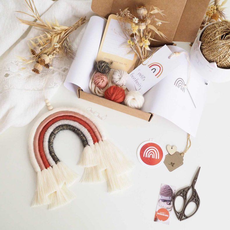 arc-en-ciel-automne-kit-creatif-DIY-laine-coton-organique-laboutiquedemelimelo