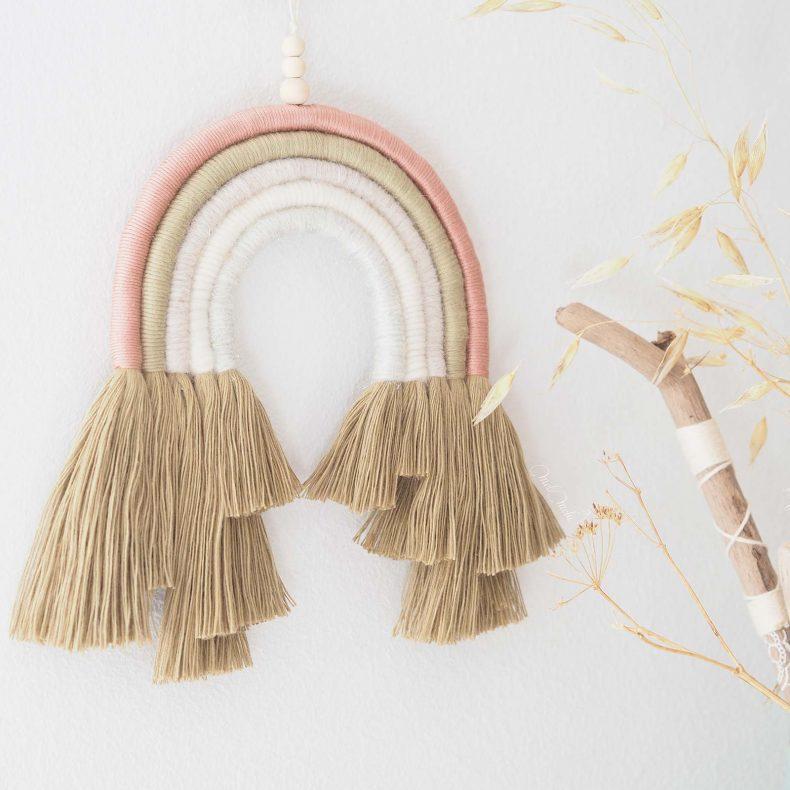 arc-en-ciel-kaki-rose-laine-coton-organique-kit-DIY-laboutiquedemelimelo