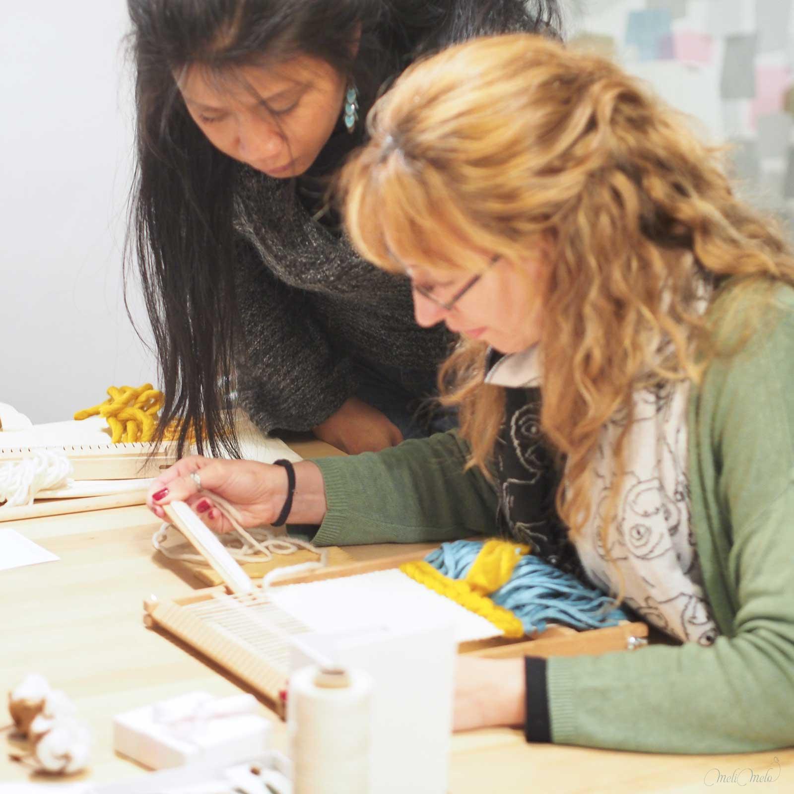 workshop atelier créatif tissage iv janvier Valladolid Mimarinita laboutiquedemelimelo
