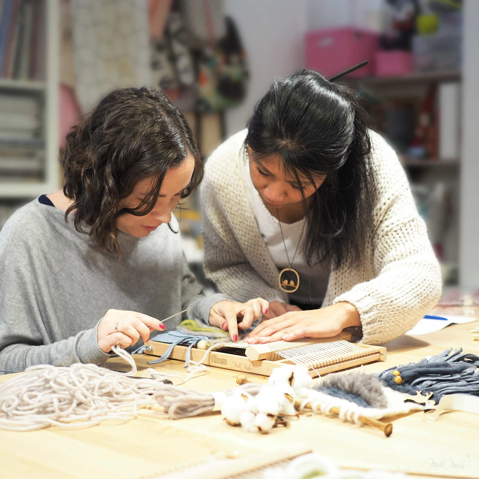 atelier de tissage MéliMélo workshop laboutiquedemelimelo wip Valladolid Mimarinita
