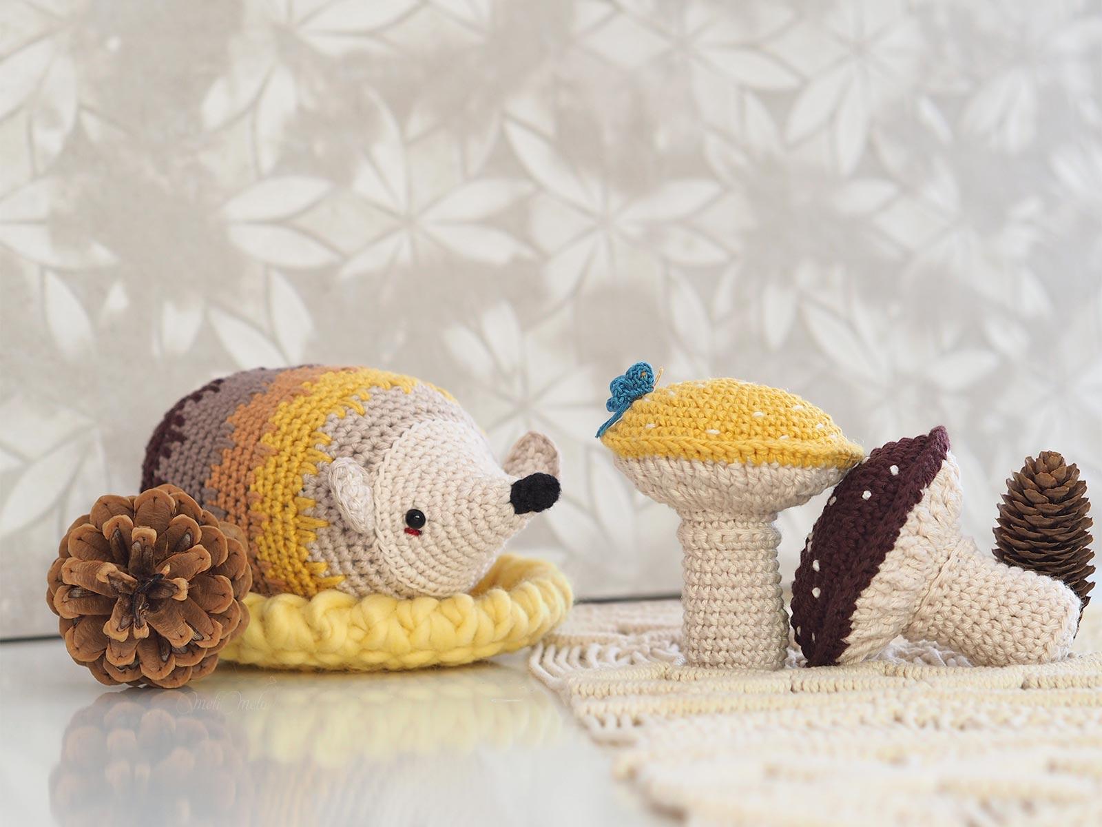 automne-amigurumi-papillon-herisson-champignon-hedgehog-mushroom-ricorumi-fall-crochet-laboutiquedemelimelo