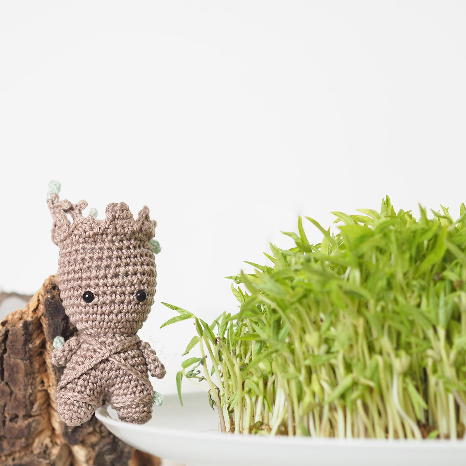 baby groot crochet marvel pousses fraîches soja germoir laboutiquedemelimelo