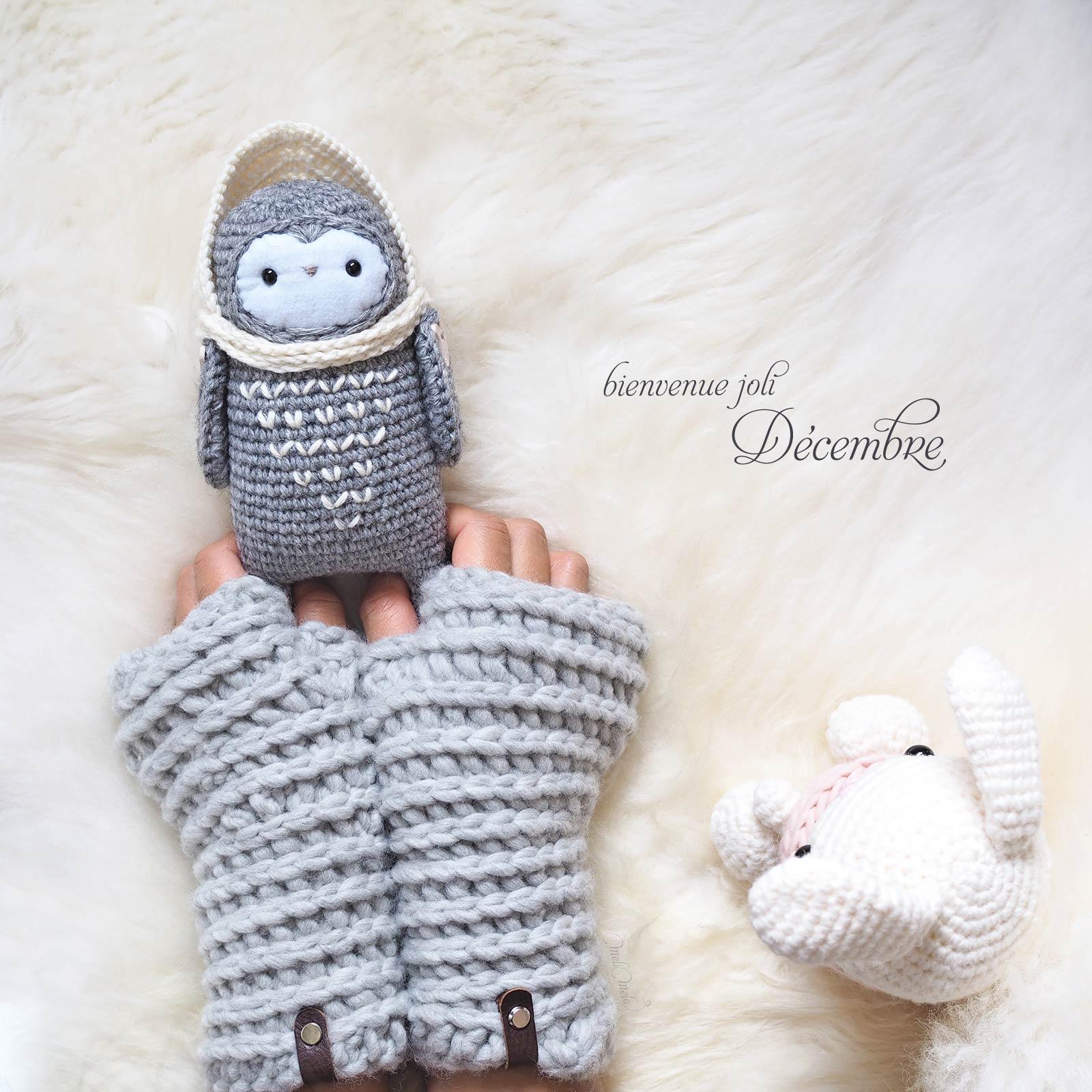 bienvenue décembre crochet chouette lutine laine little owlet owl hygge laboutiquedemelimelo