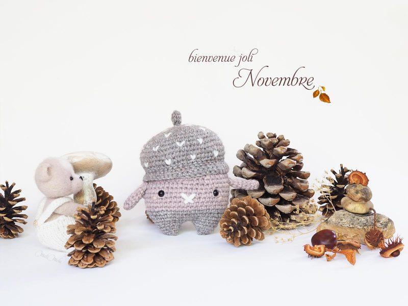 bienvenue novembre Erwin le gland Petit Filou automne laboutiquedemelimelo