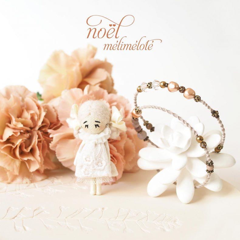 bijoux mélimélo duo bracelet broche cristal swarovski nacre macramé mookaïte laboutiquedemelimelo