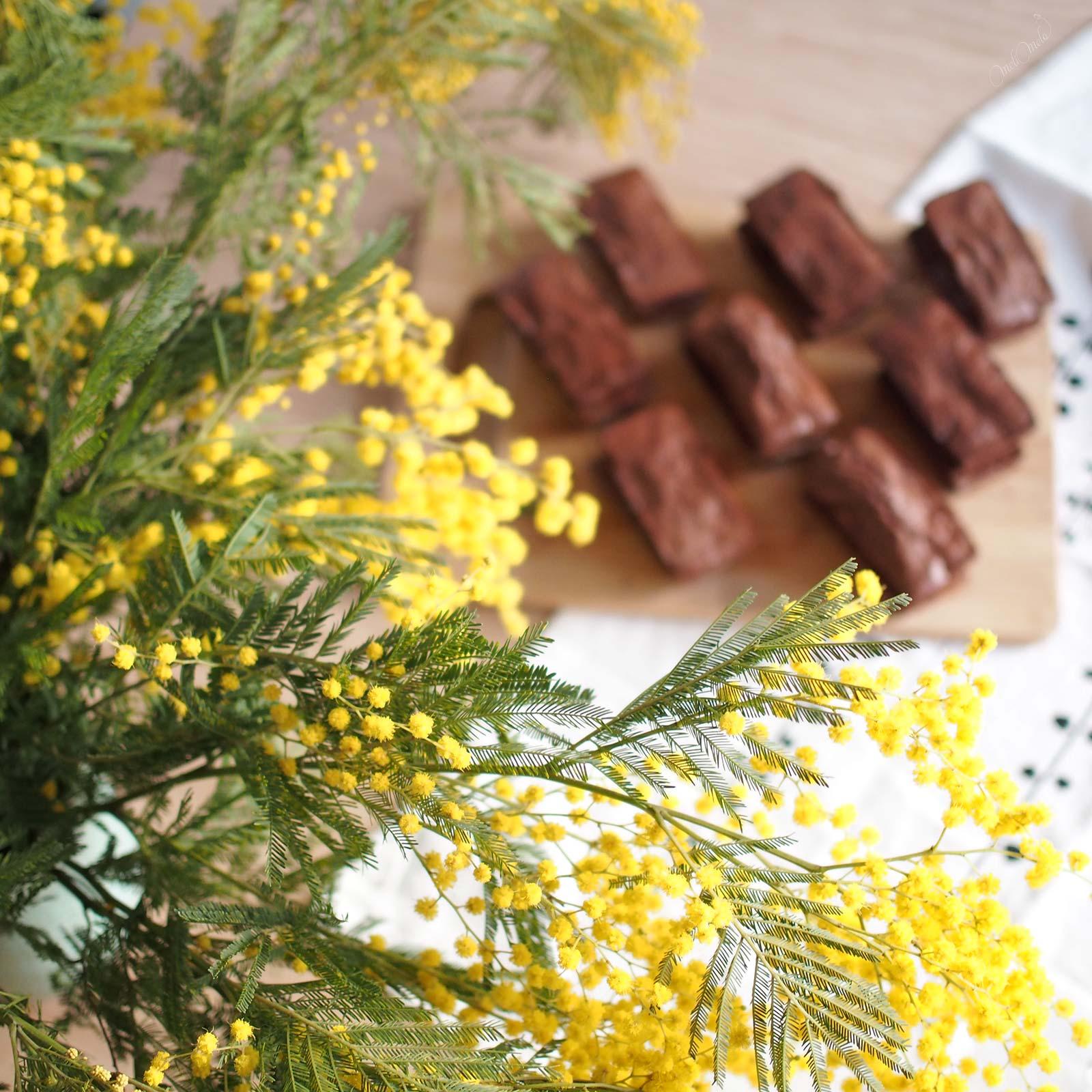 bouquet mimosa chocolat anniversaire monique laboutiquedemelimelo flores la Jara Valladolid