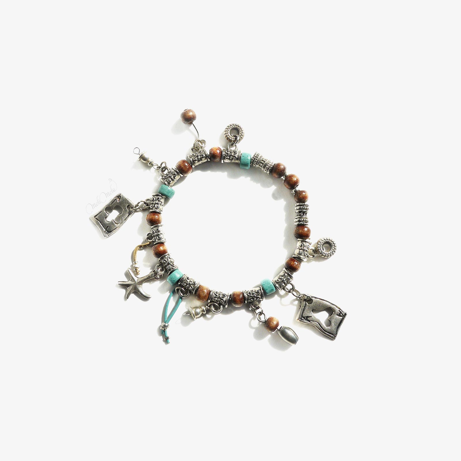 bracelet bois Jeu cartes laboutiquedemelimelo