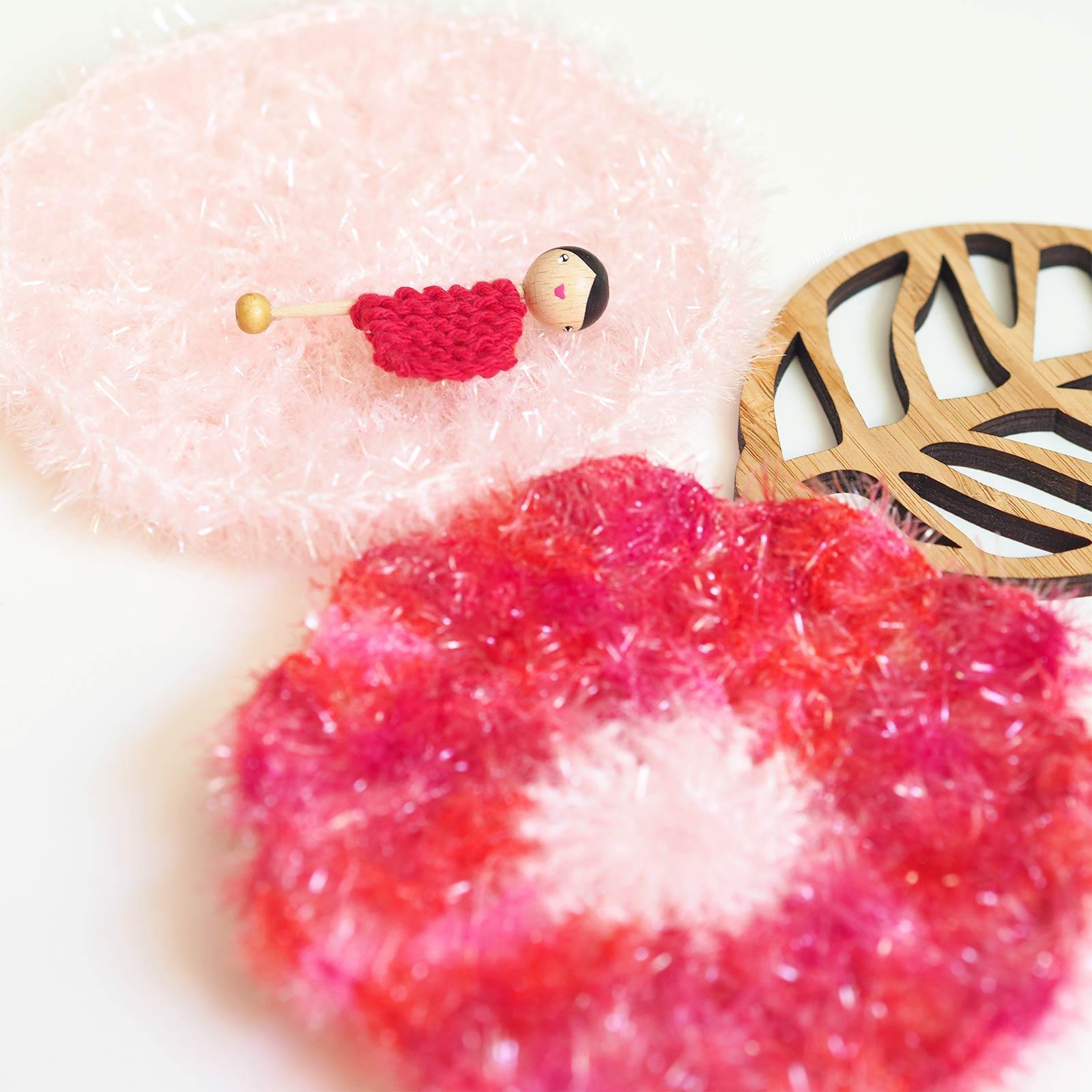 broche lespoisplumes éponge tawashi crochet fleur coquelicot laboutiquedemelimelo