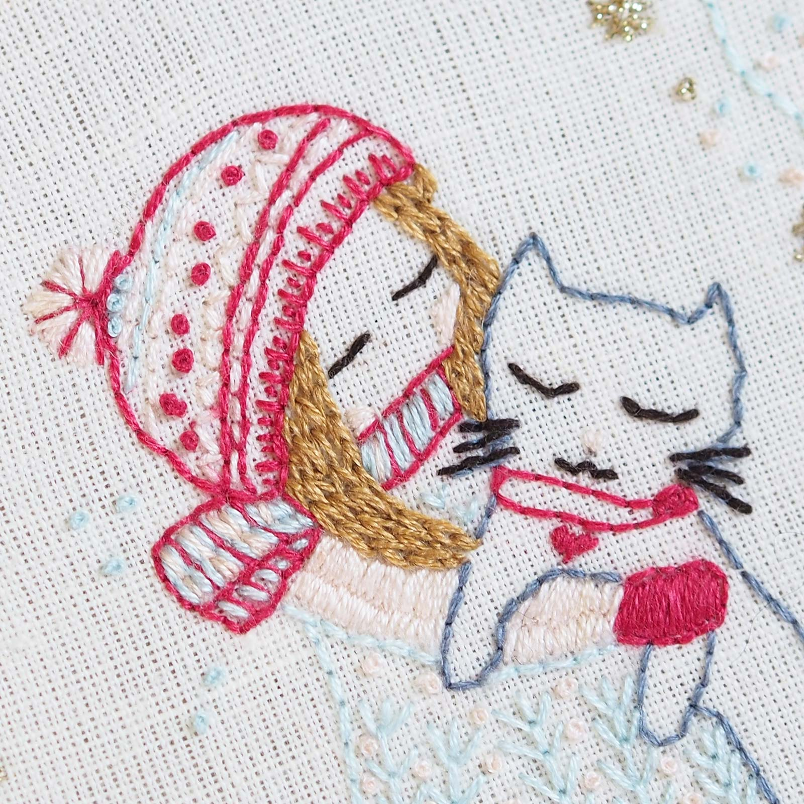 broderie-demoiselle-hiver-chat-point-chainette-laboutiquedemelimelo