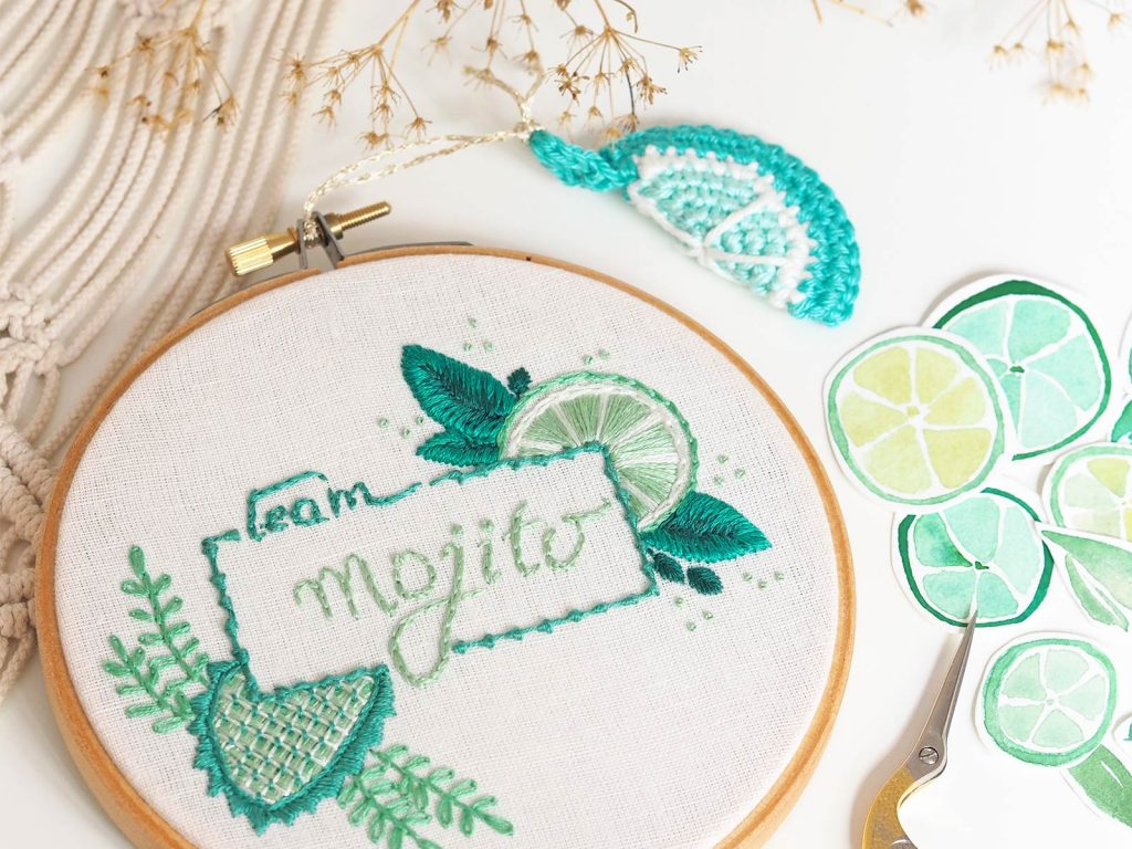 broderie-embroidery-mojito-aquarelle-lime-vert-laboutiquedemelimelo