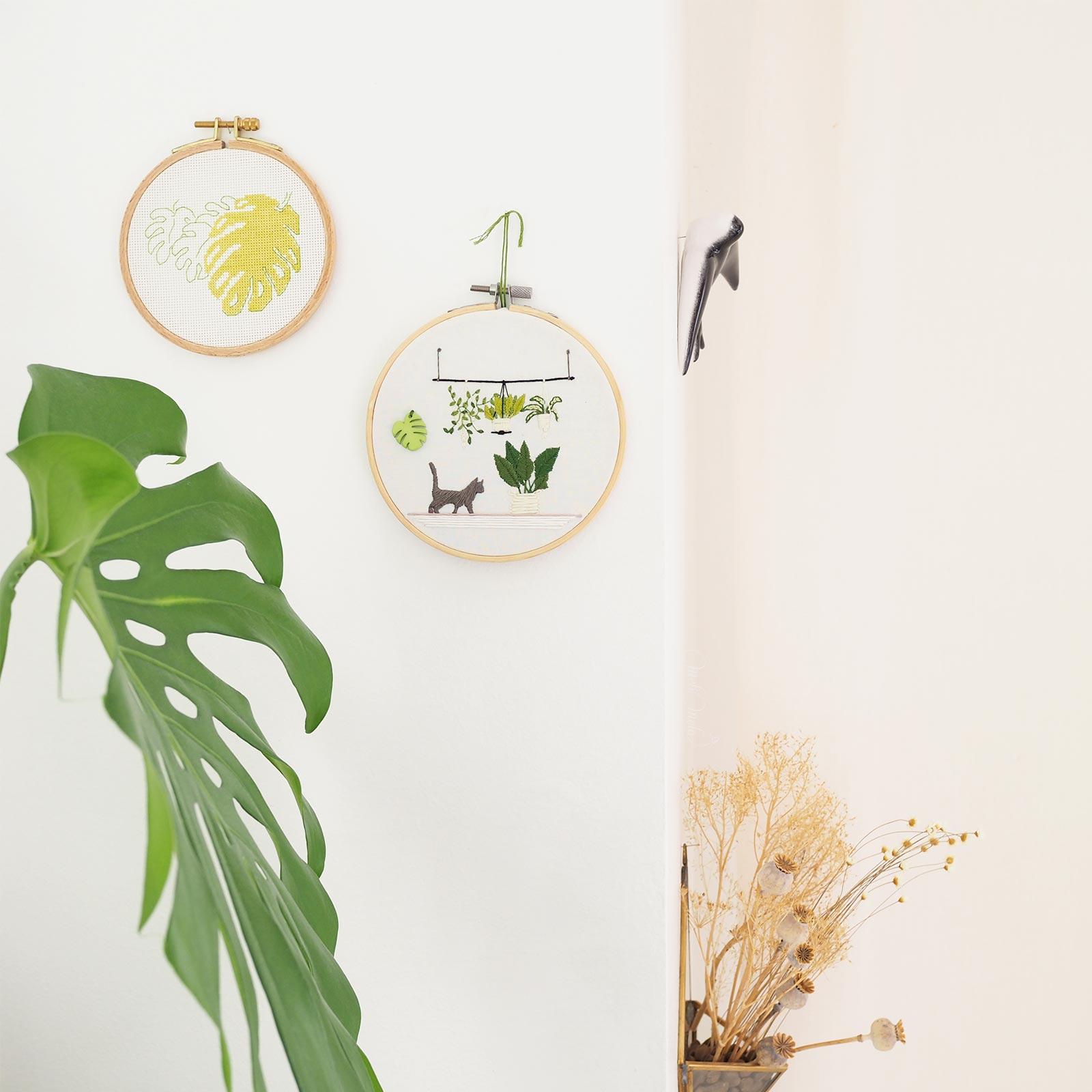 broderie plantes monstera bouzielafee green boutique melimelo