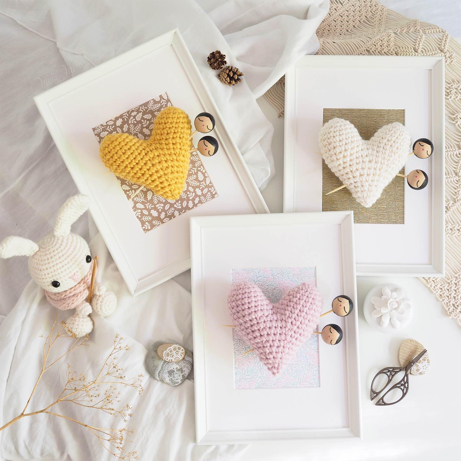 cadre coeur crochet laine we are knitters poupées lespoisplumes la boutique de melimelo