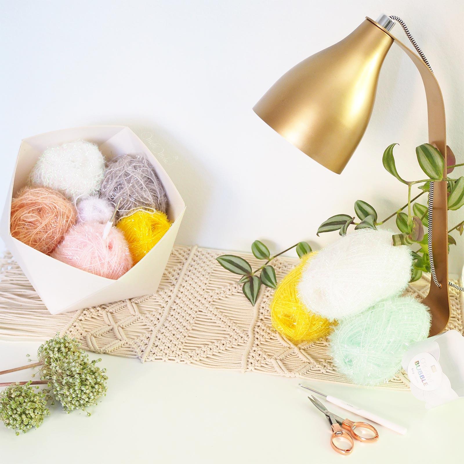 CALtawashi creative bubble rico design scrubber éponge tawashi crochet laboutiquedemelimelo