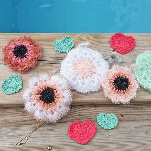 DIY crochet tawashi eponge lingette coeur nat_accroche
