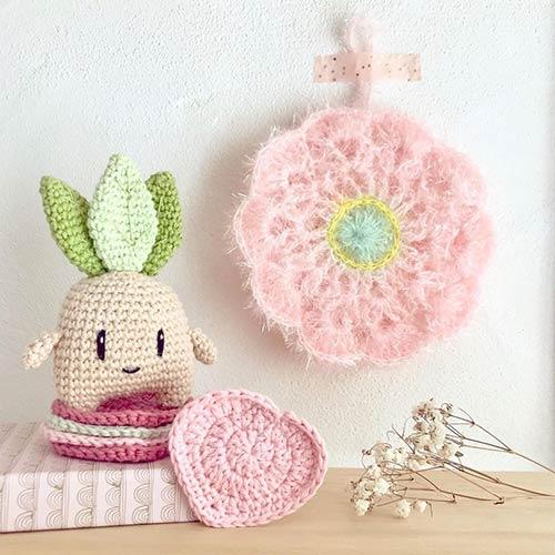 DIY crochet tawashi eponge teaforyoudiy mandragore laboutiquedemelimelo