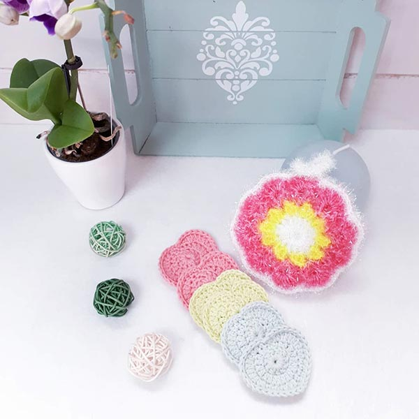 DIY crochet CAL tawashi fleur coeurs laboutiquedemelimelo thalicreations