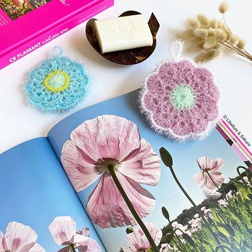 DIY crochet CAL tawashi fleur pavot opium laboutiquedemelimelo