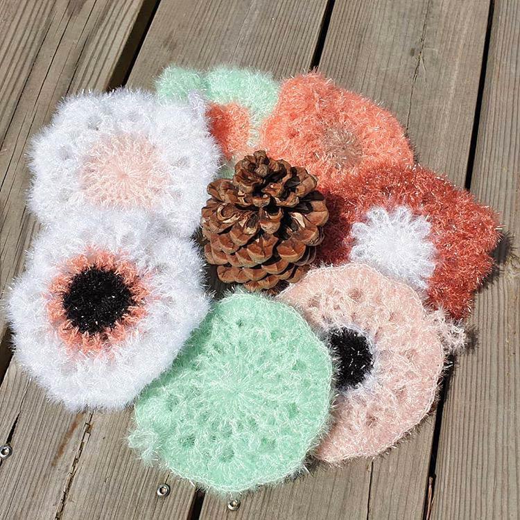 DIY crochet tawashi eponge fleurs nat_accroche