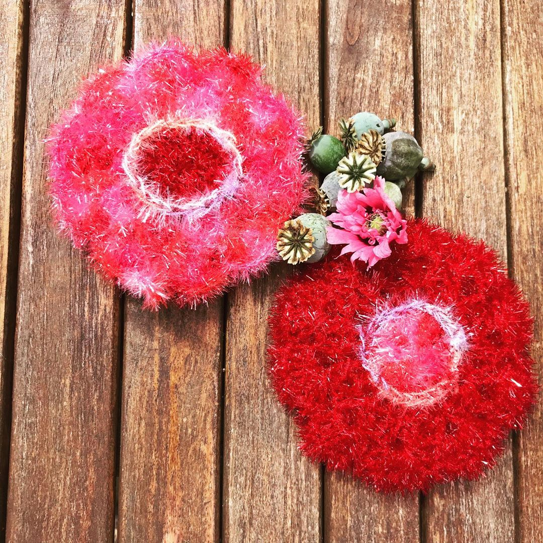 DIY crochet CAL tawashi eponge coquelicots laboutiquedemelimelo