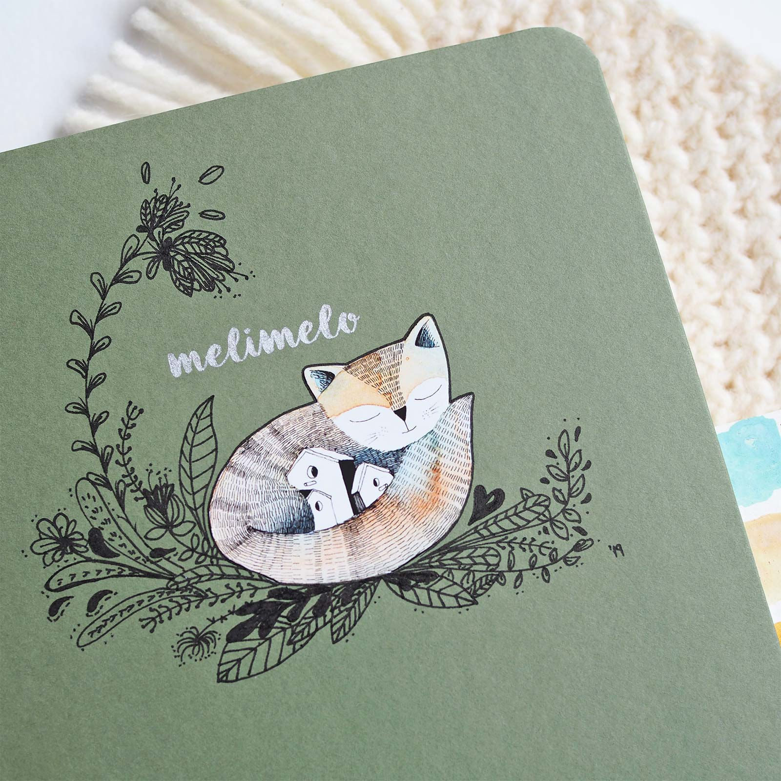 carnet aquarelle mossery renard olalarte sketchbook watercolor doodle fox laboutiquedemelimelo