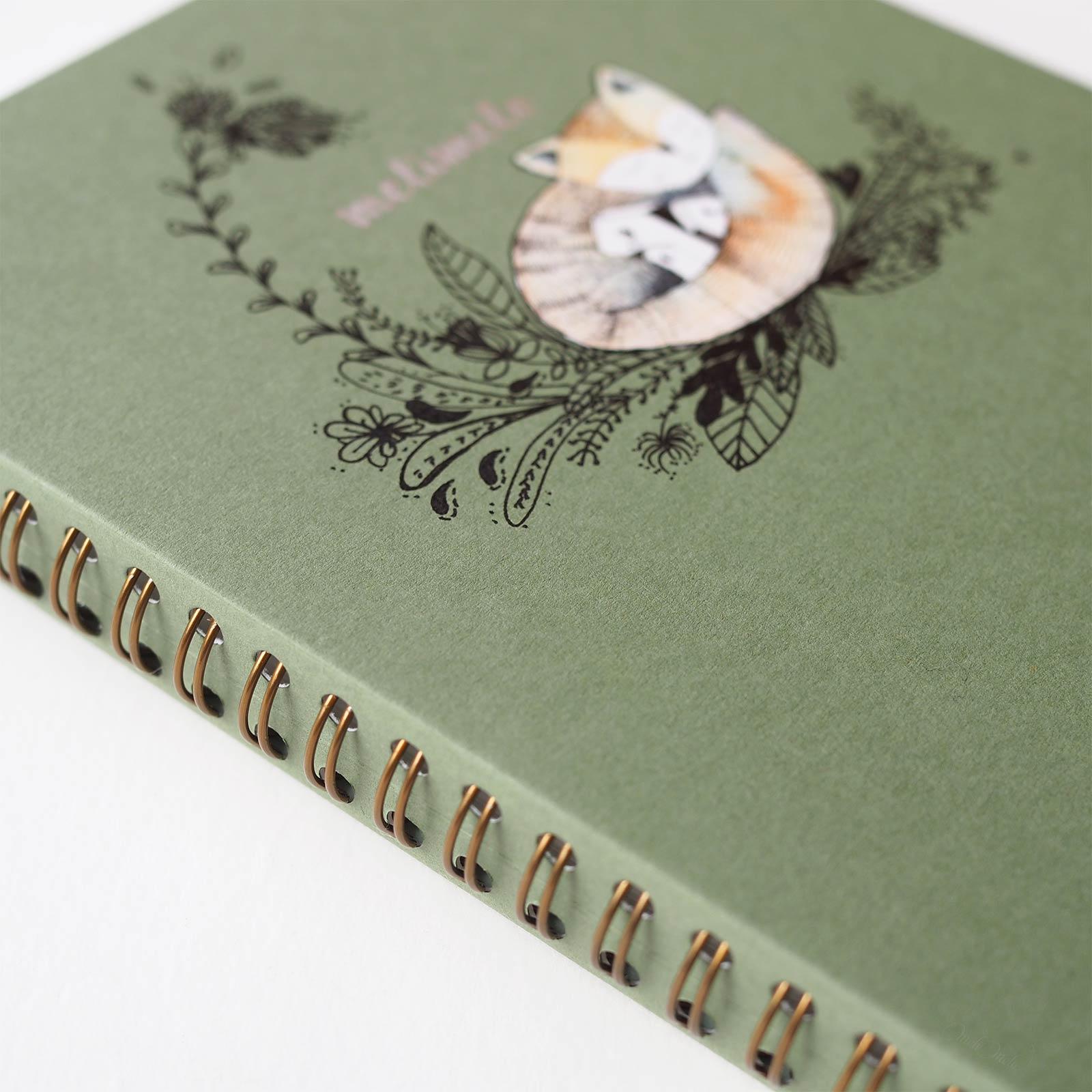 carnet aquarelle mossery sketchbook watercolor renard roux laboutiquedemelimelo
