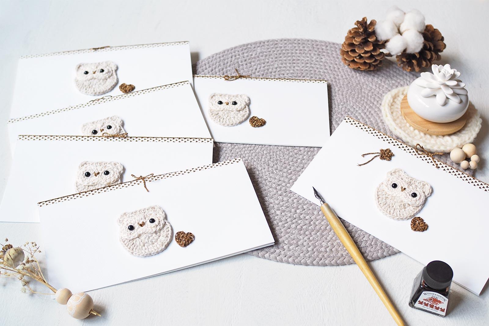 Cartes de voeux Chouette des Neiges Nöel Christmas best wishes laboutiquedemelimelo