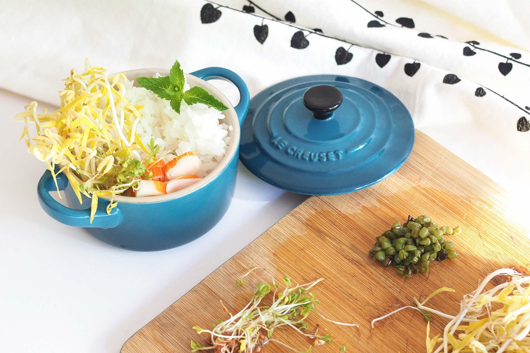 cassolette riz thaï crudités Le Creuset laboutiquedemelimelo