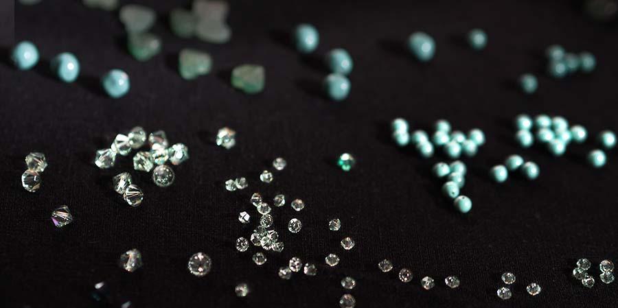 cristal éclats de mint aquamarine laboutiquedemelimelo