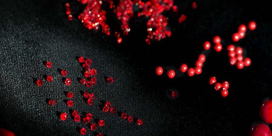 cristal éclats de rouge laboutiquedemelimelo