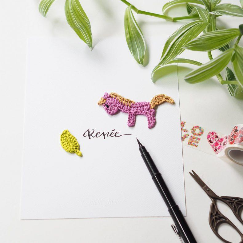 Affiche calligraphiée chevak crochet Renée La Boutique de MeliMelo